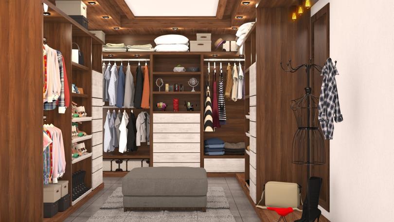 整理櫥櫃、衣櫃內的雜物時,請將重物放底層,並透過釘子、支撐桿等等方法,讓櫃子更加穩定、安全。(圖/Pixabay)